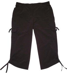 Chico's Ruched Cropped Neema Capris Black