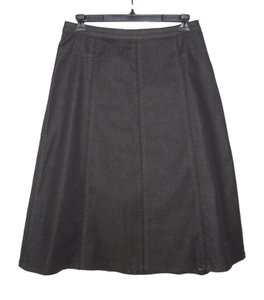 Soft Surroundings Denim Cotton A-line Skirt Black