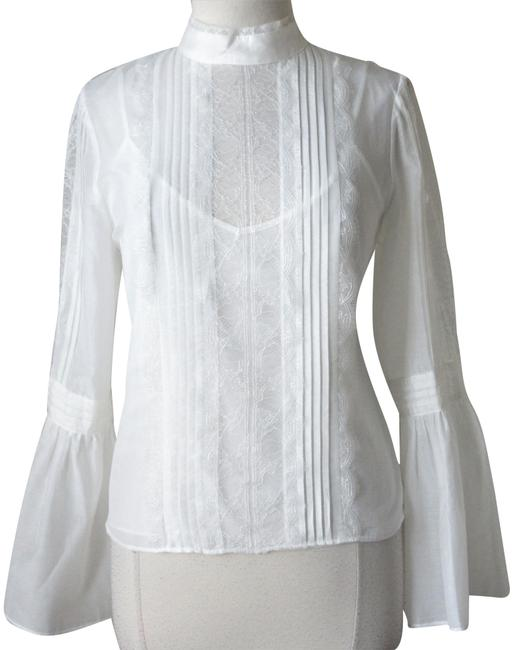 White House | Black Market Ivory New with Tags Celine Bell Victorian Lace Shirt Blouse Size 10 (M) White House | Black Market Ivory New with Tags Celine Bell Victorian Lace Shirt Blouse Size 10 (M) Image 1