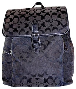 Coach Canvas Leather Monogram Classic Backpack