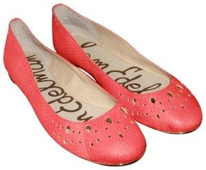 006b05f93df7 Sam Edelman Ballet Leather Perforated Cut-out coral Flats