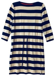 Merona short dress Navy Blue & Off White Drawstring Comfort Nautical on Tradesy