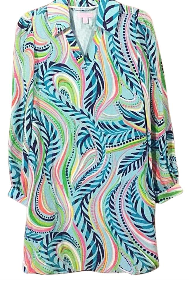 8a368adc551c Lilly Pulitzer Silk Wayles Multi Sea Me Tunic Short Casual Dress. Size  2 ( XS) Length  Mid-Length ...