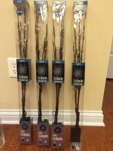 Crystal Led Lighted Branches (set Of 4)