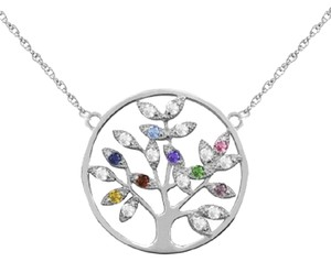 Apples of Gold PERSONALIZED GEMSTONE TREE OF LIFE NECKLACE, STERLING SILVER