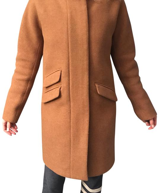 Item - Camel / Tan Cocoon Womens Coat In Italian Stadium-cloth Wool Jacket Size 6 (S)