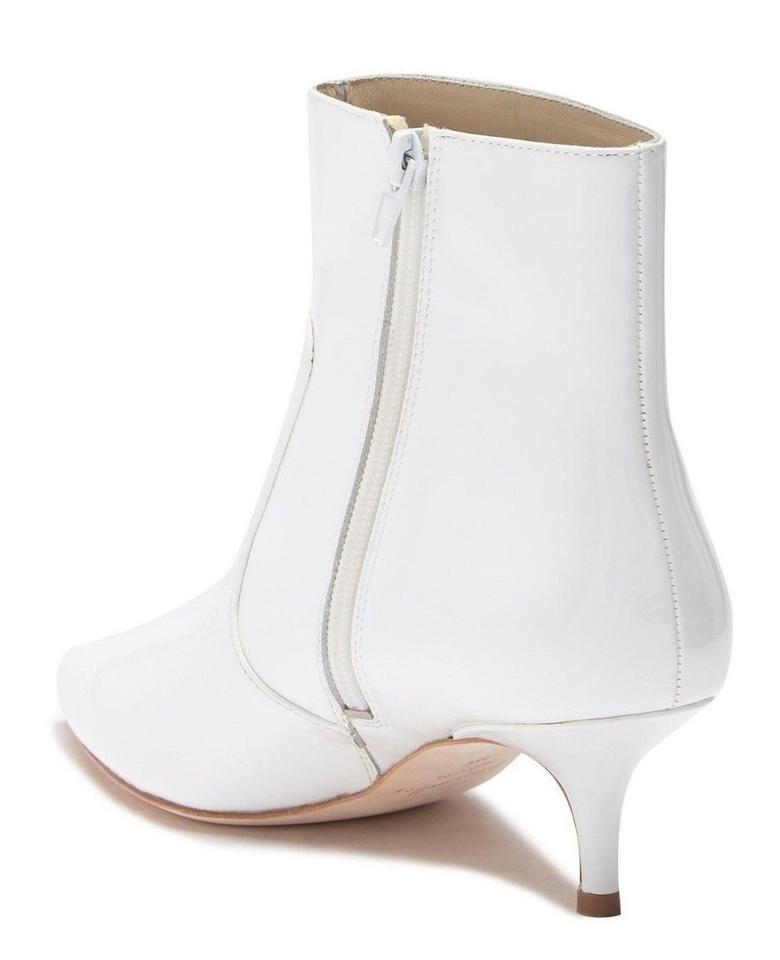 5943c20a8e61 Bettye Muller White Anthropologie Patent Leather Kitten Boots Booties Size  US 6.5 Regular (M