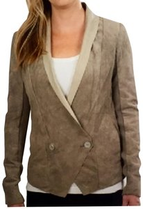 EMU Suede New Quality Timeless Natural Beige Leather Jacket