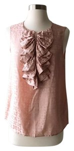Marc by Marc Jacobs Ruffle Silk Floral Top Blush Pink