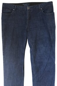 Vera Wang Relaxed Fit Jeans-Dark Rinse