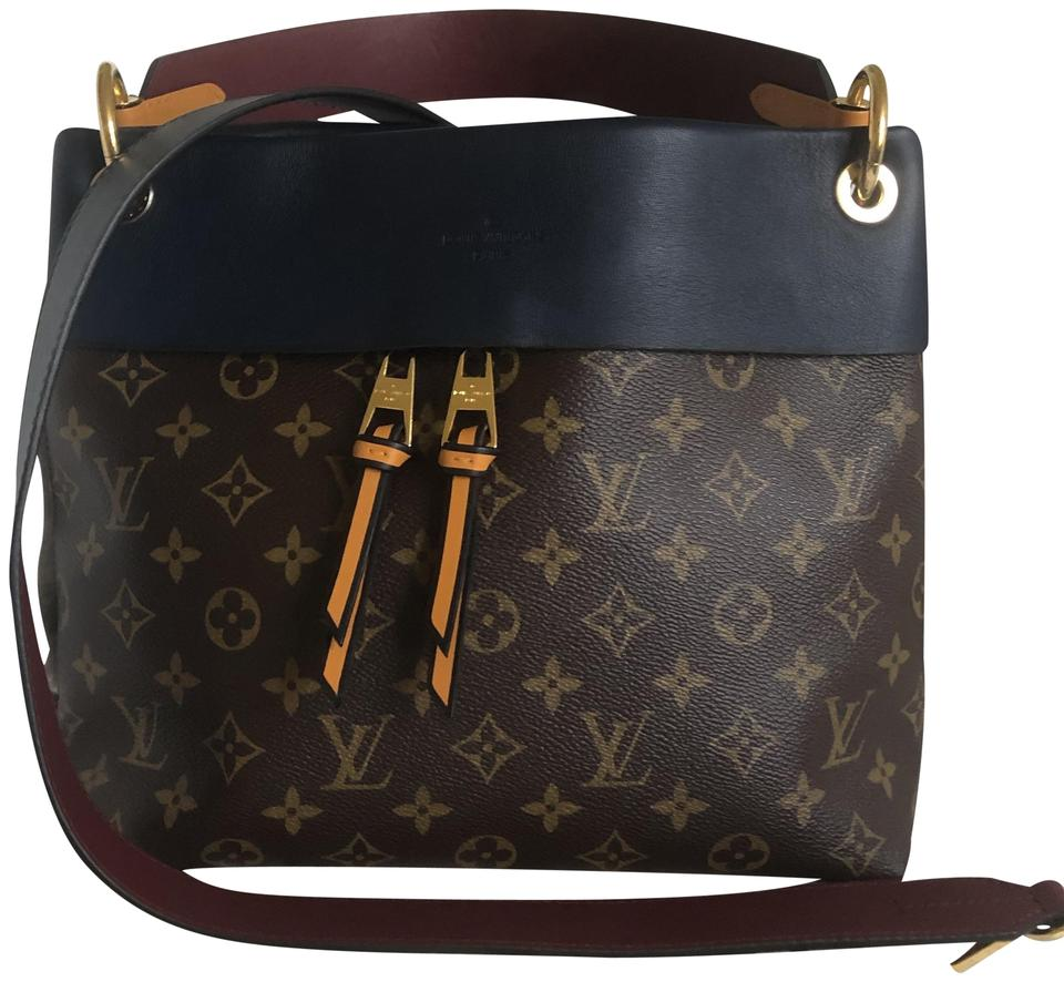 53444408ba58 Louis Vuitton Tuileries Besace Monogram Navy Canvas with Leather ...