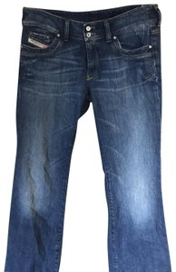 Diesel Trouser/Wide Leg Jeans-Medium Wash