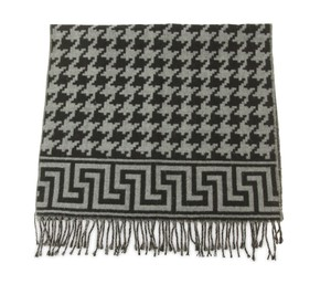 Fendi Houndstooth Long Fringe