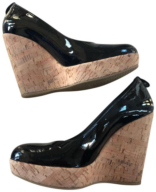 Item - Black Box Patent Leather and Cork With Wedges Size US 6 Regular (M, B)