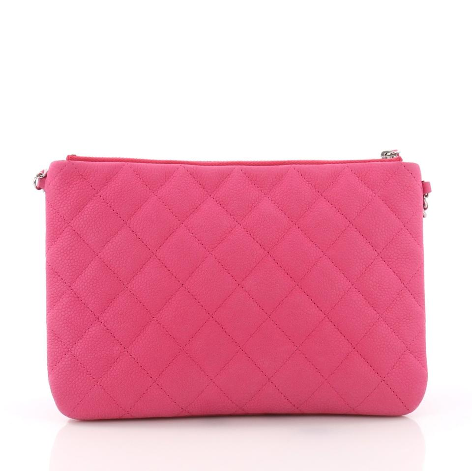 3b9a5ccb96e040 Chanel Daily Zippy Quilted Caviar Medium Pink Leather Cross Body Bag -  Tradesy