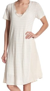 Bordeaux short dress Cream V Neck Constrast Detailing Curved Hem Banded Trim Two Pieces on Tradesy