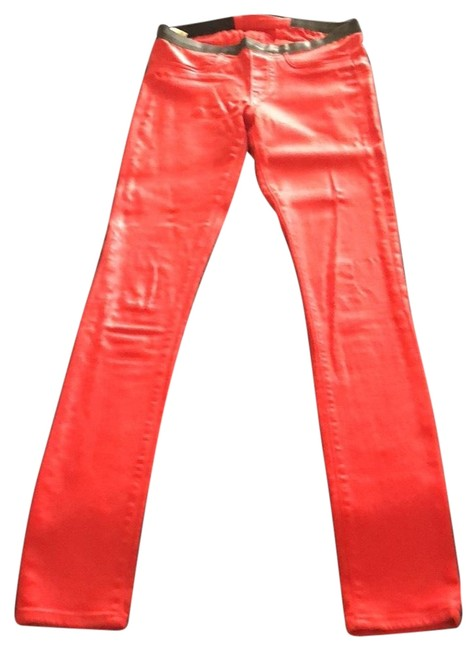 Item - Red/Vein Coated E06hw205 Skinny Jeans Size 2 (XS, 26)