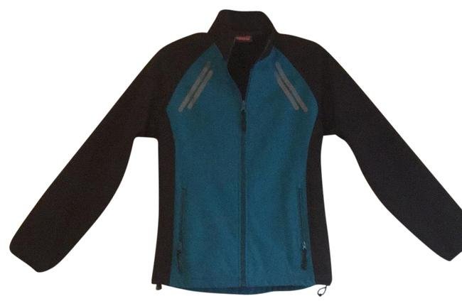 Item - Black Teal and Gray Accents Active Fit Jacket Activewear Size 6 (S)