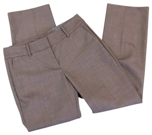 Ann Taylor Straight Pants Tan and brown