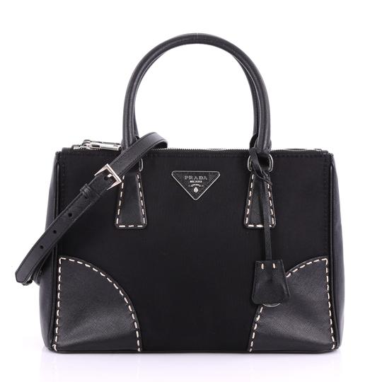 Preload https://img-static.tradesy.com/item/24454870/prada-double-zip-convertible-stitched-tessuto-and-small-black-saffiano-leather-tote-0-0-540-540.jpg