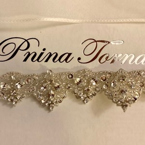 Pnina Tornai Ivory Belt Swarovski Crystal New In Box Sash