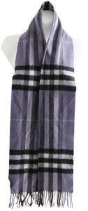 Burberry Burberry Lilac Purple Giant Check Cashmere Fringed Scarf