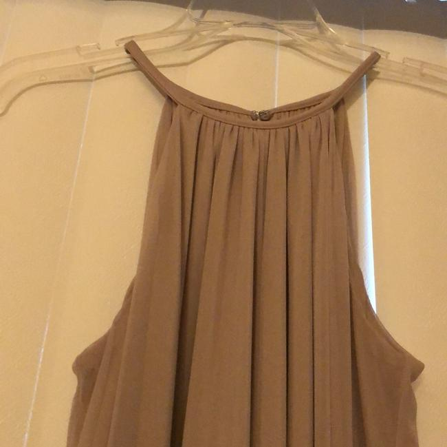 Item - Biscotti Polyester. Pullover Styling; Fully Lined Halter with Slim Sash Feminine Bridesmaid/Mob Dress Size 10 (M)