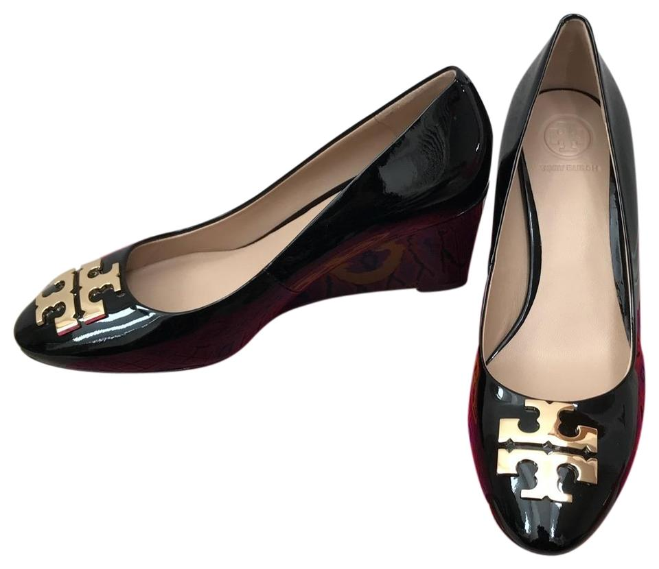 908b69f72b94 Tory Burch Black   Raleigh   70mm Patent Leather Wedges. Size  US 8 Regular  (M ...
