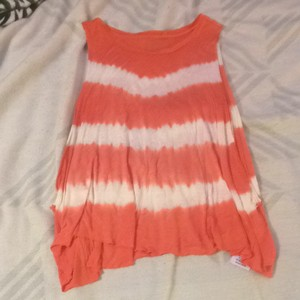 Guess Top Salmon/Orange/pink/white/tye-died