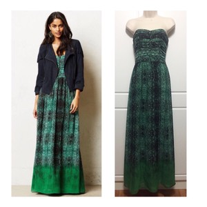 Green & Black Maxi Dress by Anthropologie