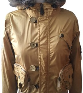 Burton Water-resistant Wool Cuffs/Waistband Spit Hood Secured Pockets Arm Vents Coat