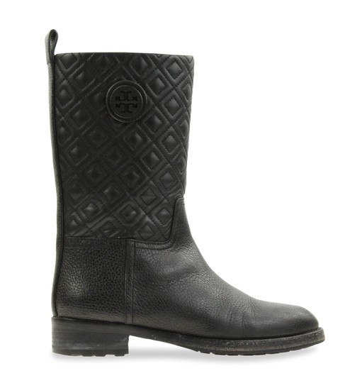 cc3ddc9d2f7f7e Tory Burch Black Marion Quilted Leather Boots Booties Size US 7 ...