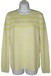 Lord & Taylor Striped Soft Cashmere Sweater