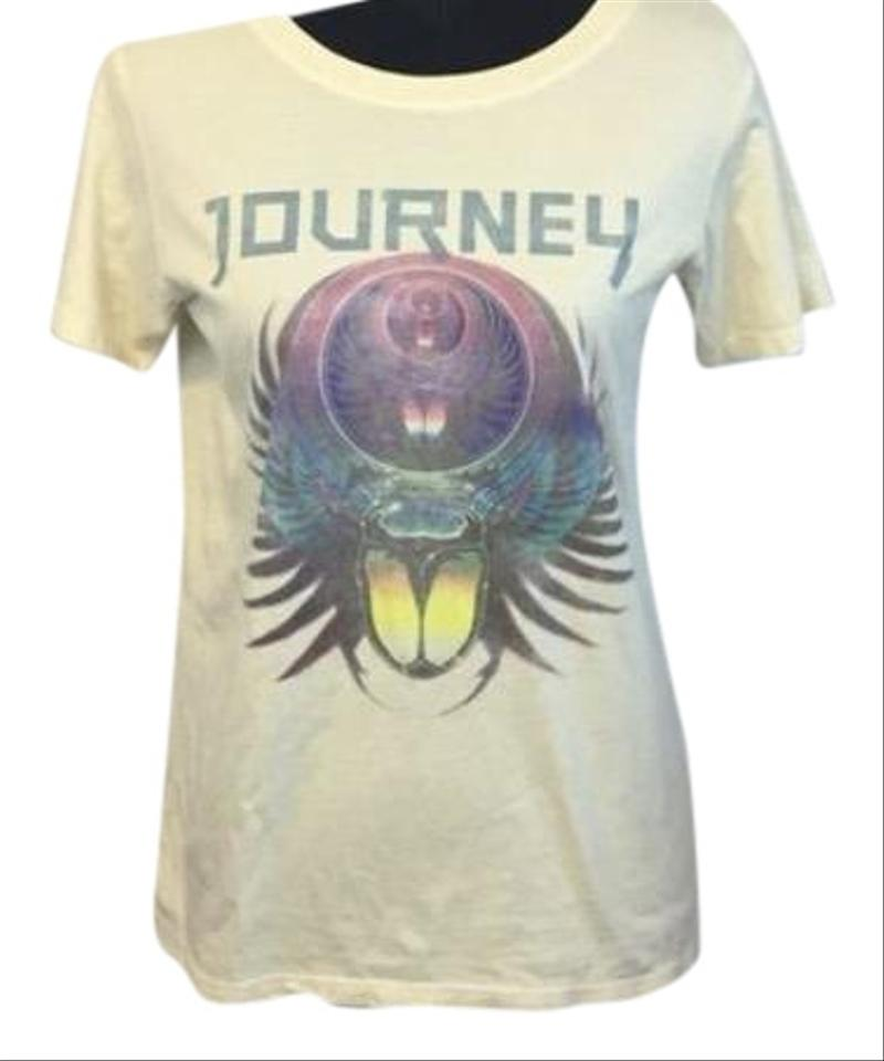 Daydreamer Off White Graphic Journey Band Tee Shirt Size 6 S Tradesy