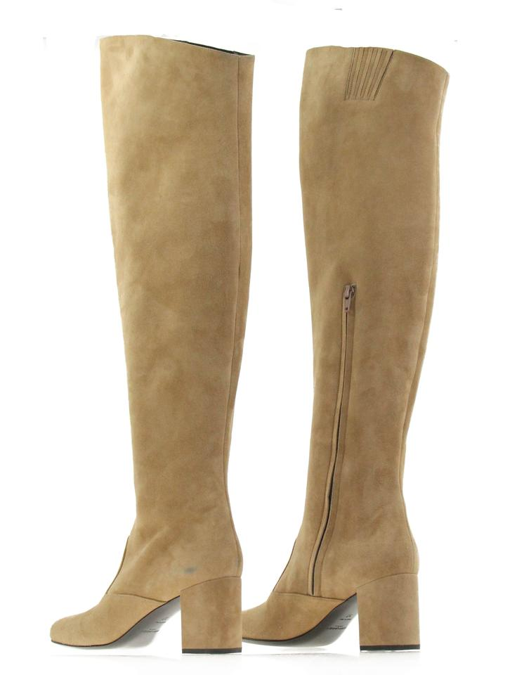 d845f86ee60 Saint Laurent Tan Suede Over The Knee Boots Booties. Size  EU 37 ...