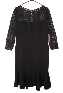 Nue by Shani Lace Ponte Knit Fitted Stretch Dress