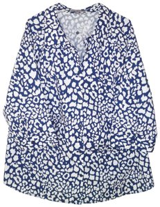 Jessica London Cotton Career Printed Button Down Shirt