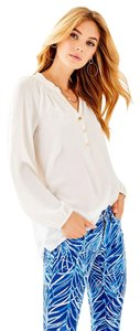 Lilly Pulitzer Silk Top White