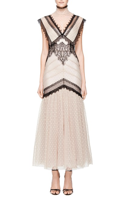 Natasha Zinko Boho Lace Party Polka Dot Dress
