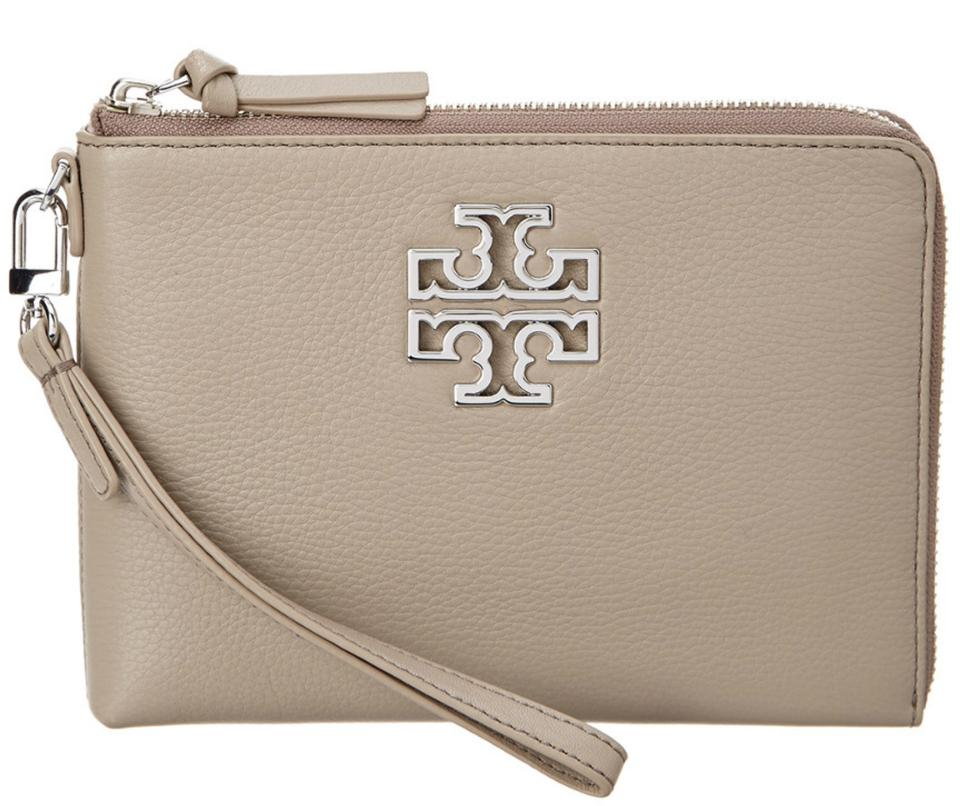 453d81e733c Tory Burch New Large Wallet French Gray Leather Clutch - Tradesy