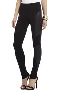 BCBGMAXAZRIA Panel Stretchy High Waist Full Length Black Leggings