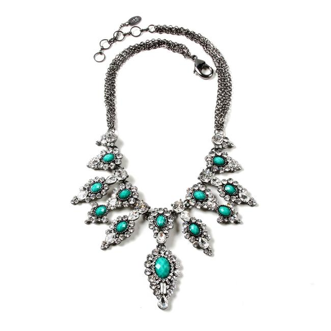 Amrita Singh Gold Imperial Palace Turquoise Necklace Amrita Singh Gold Imperial Palace Turquoise Necklace Image 1