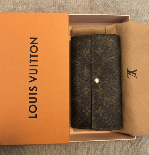Louis Vuitton France Monogram Canvas Long Sarah Wallet