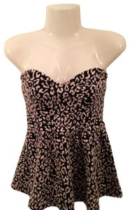 Pins and Needles Strapless Top Black and White