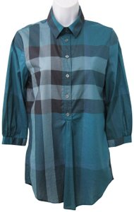 Burberry Brit New With Out Tag Button Down Shirt Blue