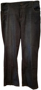 Ashley Stewart Plus-size Comfortable Casual Relaxed Fit Jeans-Dark Rinse