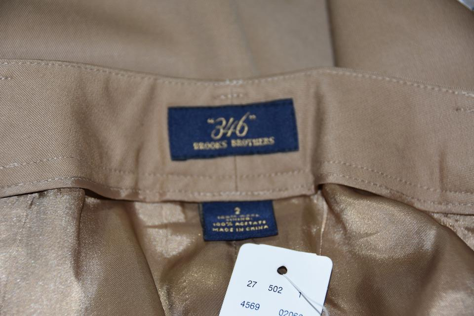 outlet boutique buying new on sale Brooks Brothers Tan Wool 346 Pleat-front Trousers Pants Size 2 (XS, 26) 46%  off retail