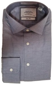 Charles Tyrwhitt Mens Dress Shirt Suit Work Button Down Shirt blue