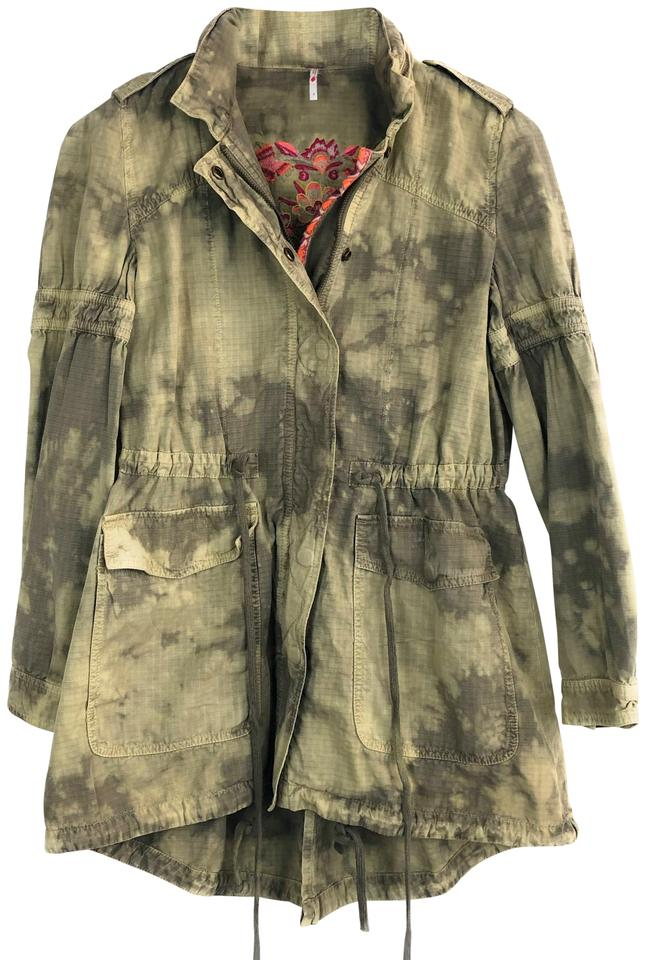 39b30830b Free People Green Festival Embroidered Anorak Jacket Size 4 (S) 51% off  retail
