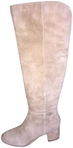 Isaac Mizrahi Live! New In Box Suede Zipper Soft Comfortable Beige Tan Boots